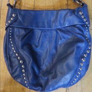 Preloved  B Makowsky Blue Studded hobo purse